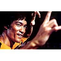 ブルース・リー Bruce Lee 海外 レア シルク調 大型 90x60cm ファブリック ポスター ブルースリー 燃えよドラゴン [並行輸入品]