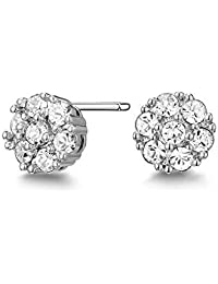 Mestige Whitney Earrings with Swarovski® Crystals (Silver) Gifts Women Girls, Classic Stud Earrings