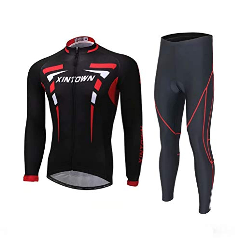 東ティモール毛布部分的にTenflow 長袖サイクルジャージ 自転車ウェア 上下セット メンズ サイクルウェア サイクリング 吸汗速乾 日よけ xhyd-long-shh
