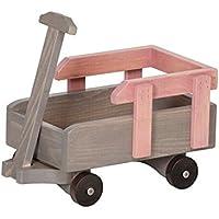 12 – 18インチ人形Pull Wagon再生アクセサリーUSAハンドメイド、ピンク&グレー