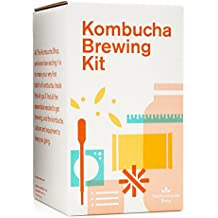 Kombucha Brewing Kit with Organic Kombucha Scoby. Includes Glass Brew Jar, Organic Kombucha Loose Leaf Tea, Temperature Gauge, Organic Sugar and More!