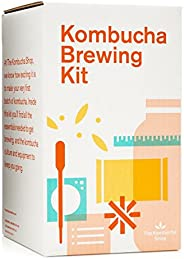 Kombucha Brewing Kit with Organic Kombucha Scoby. Includes Glass Brew Jar, Organic Kombucha Loose Leaf Tea, Te
