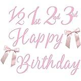 グリッター ガーランド 筆記体 HAPPY BIRTHDAY 誕生日 飾り 年齢 数字 1/2 1st 2nd 3rd