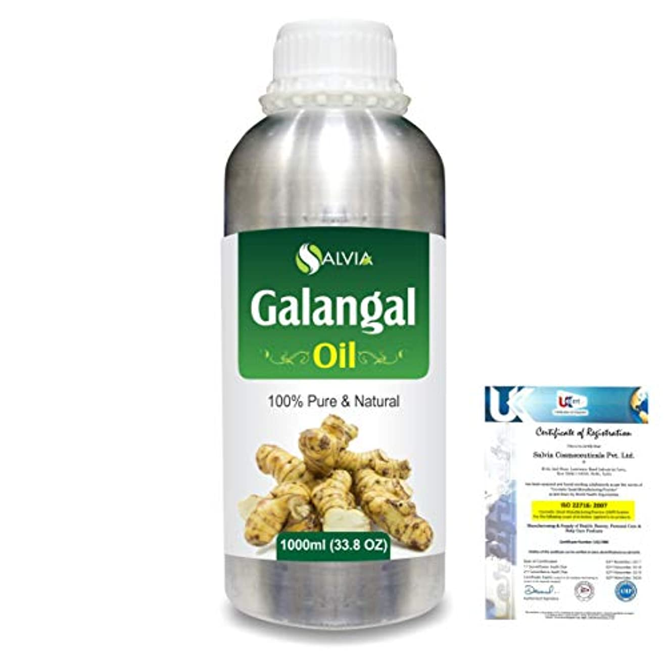 ブルームピボット安全性Galangal (Alpina officinarum)100% Natural Pure Essential Oil 1000ml/33.8fl.oz.