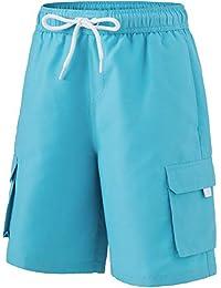 (テスラ)TESLA キッズ 水着 スイムウェア 半袖 ドライフィット Tシャツ?半袖 長袖 ラッシュガード?サーフパンツ ボードショーツ [UVカット?吸汗速乾] 水陸両用