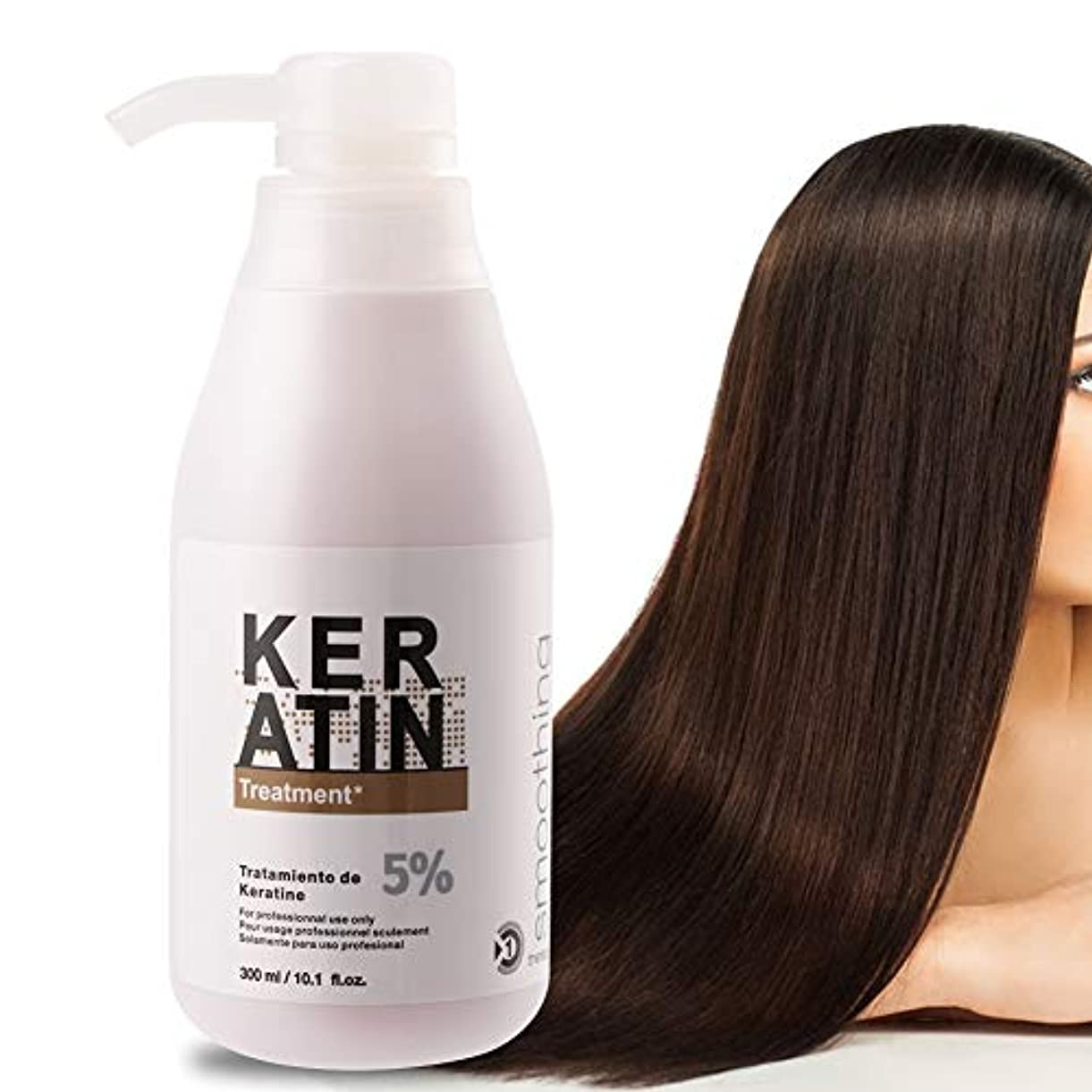 バー騒乱護衛乾いた、ダメージを受けた、そして化学的に処理された髪のためのケラチンとタンパク質のケラチンヘアマスク、300mlブラジルのケラチンヘアトリートメント