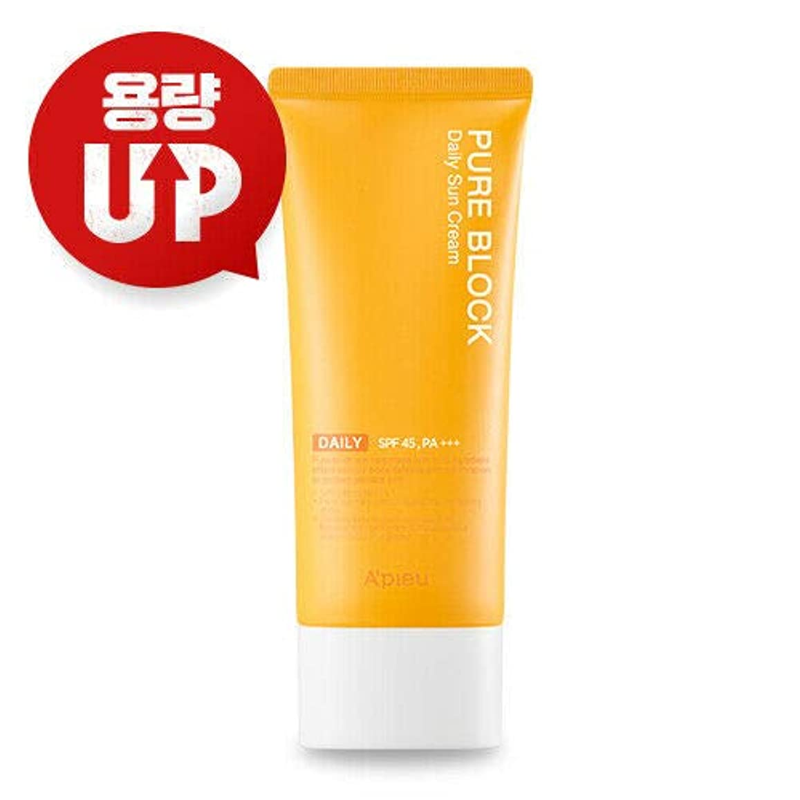 使用法高揚した理容師A'PIEU オピュ ピュアブロックナチュラル サンクリーム APIEU PURE BLOCK Natural Sun Cream 100ml SPF45/PA+++