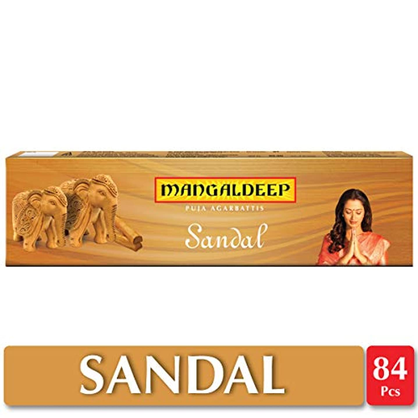マナーアクロバットエキスMangaldeepサンダル供養Agarbattis 85 Incense Sticks