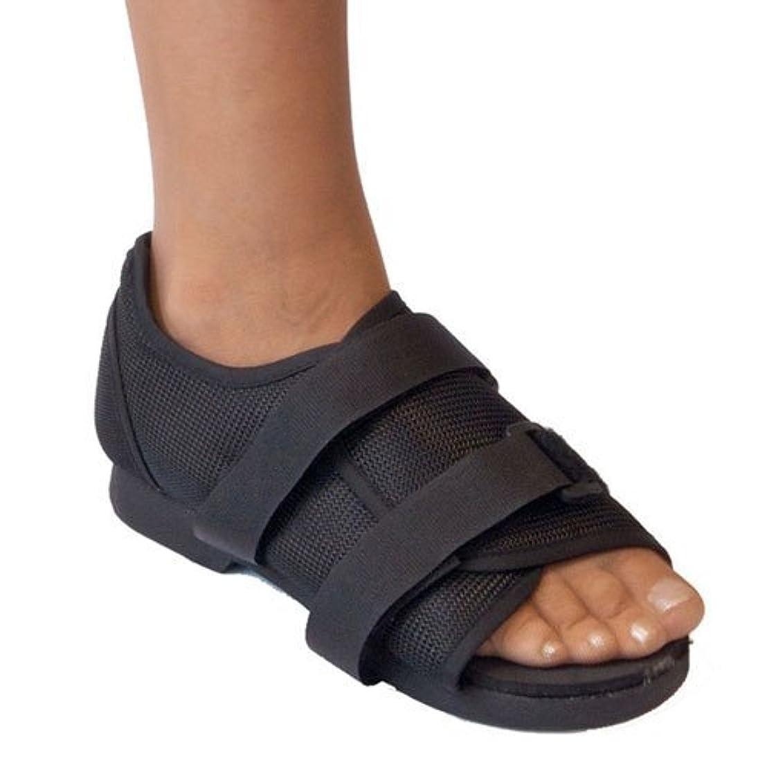 フロンティアよろめくラフ睡眠術後靴、メディカルウォーキング、骨折した骨の耐久性のあるつま先整形外科サポートブレース。,S