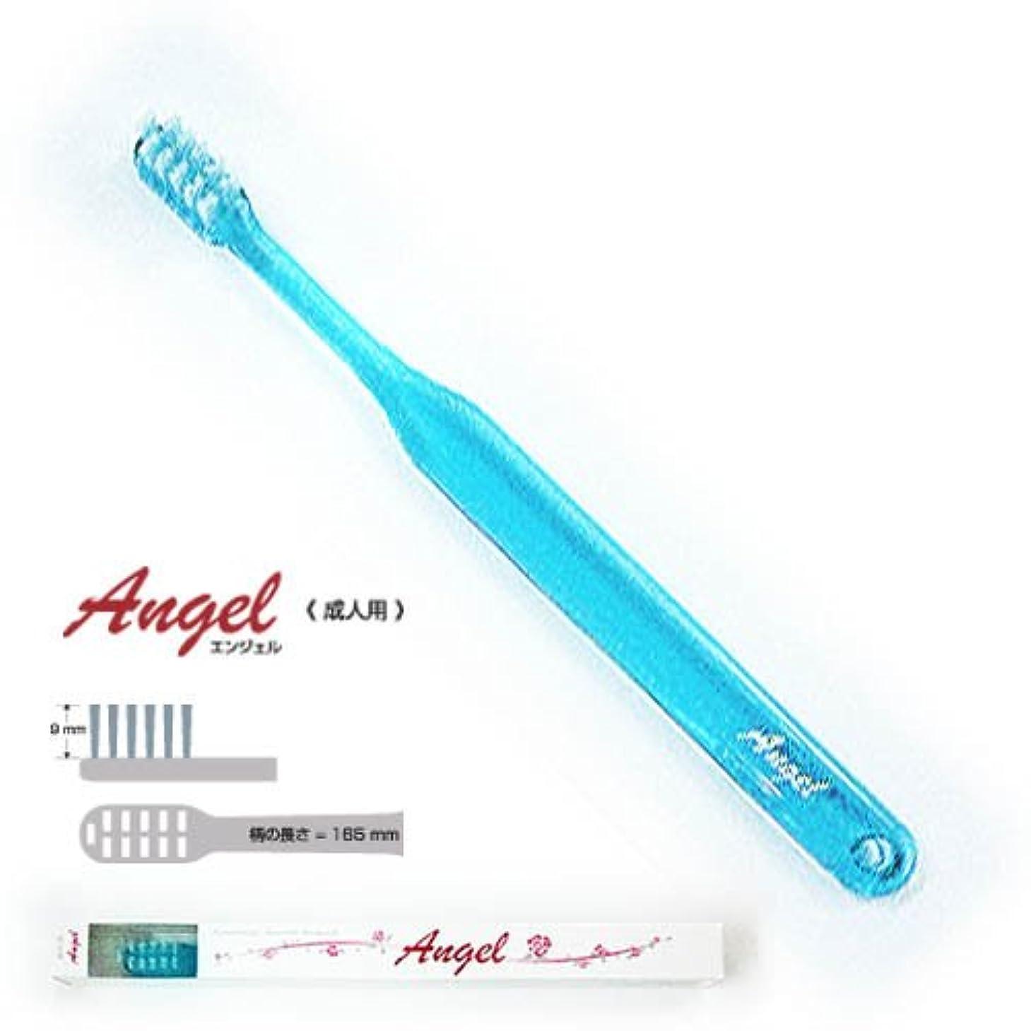 要求本質的に近く歯科用 平穴植毛歯ブラシ 【エンジェル】 (ブルー)