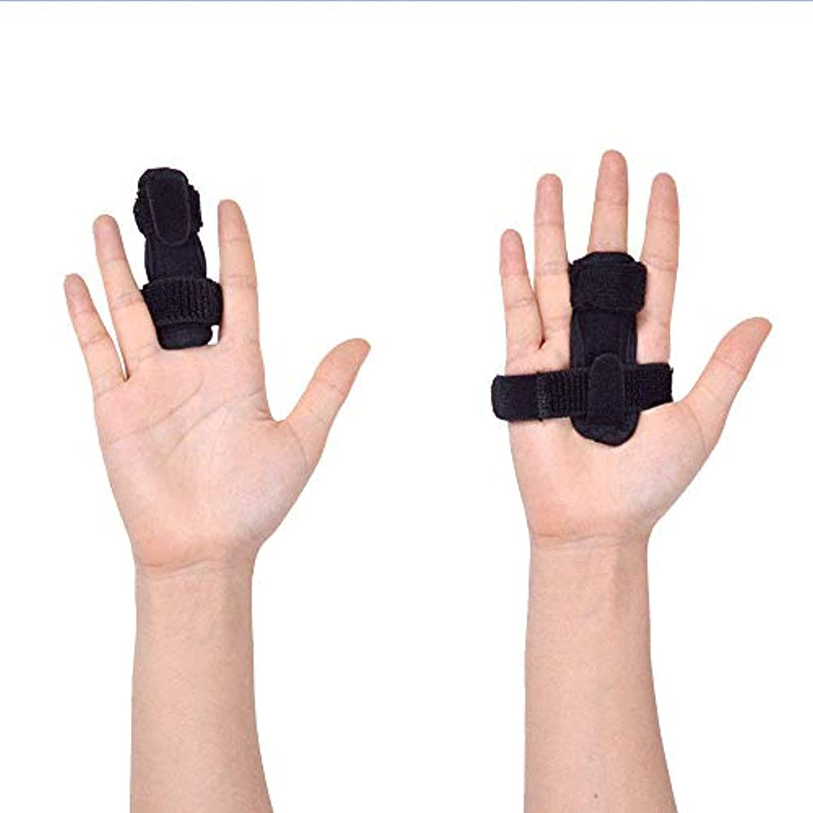 朝食を食べるテロリストの面では指サポーター ばね指サポーター バネ指 腱鞘炎 指保護 固定