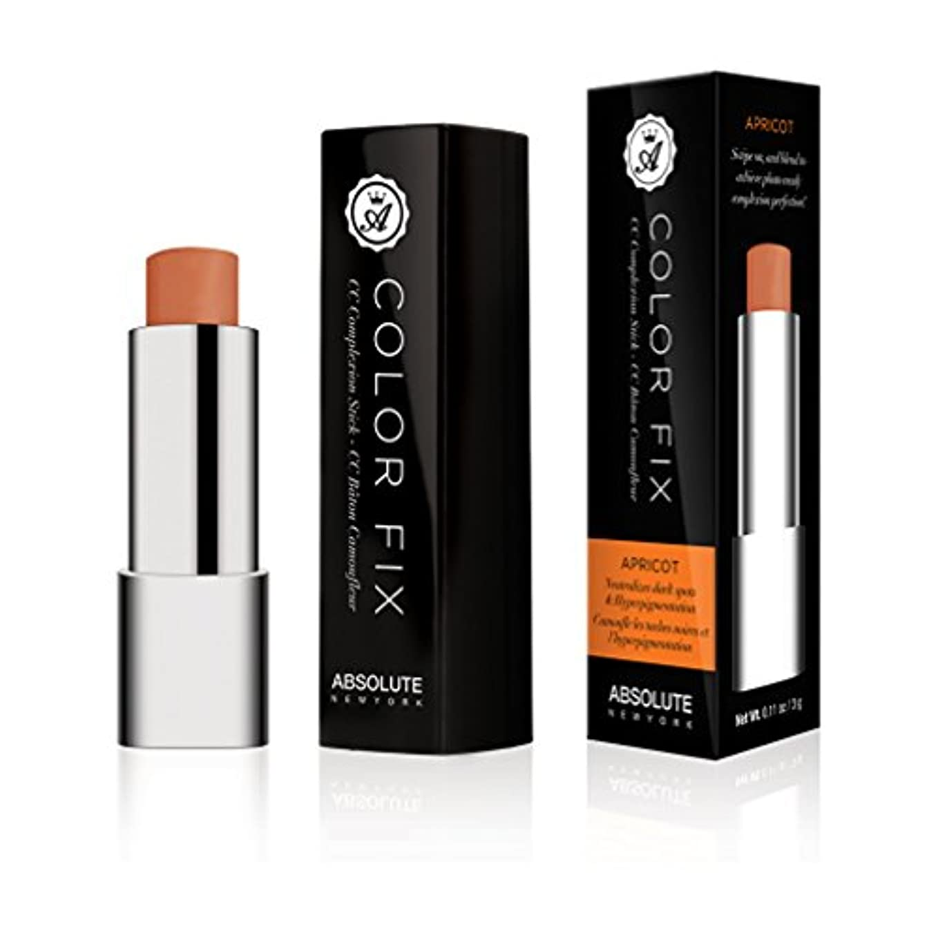 くそー今晩せっかち(3 Pack) ABSOLUTE Color Fix Complexion Stick - Apricot (並行輸入品)