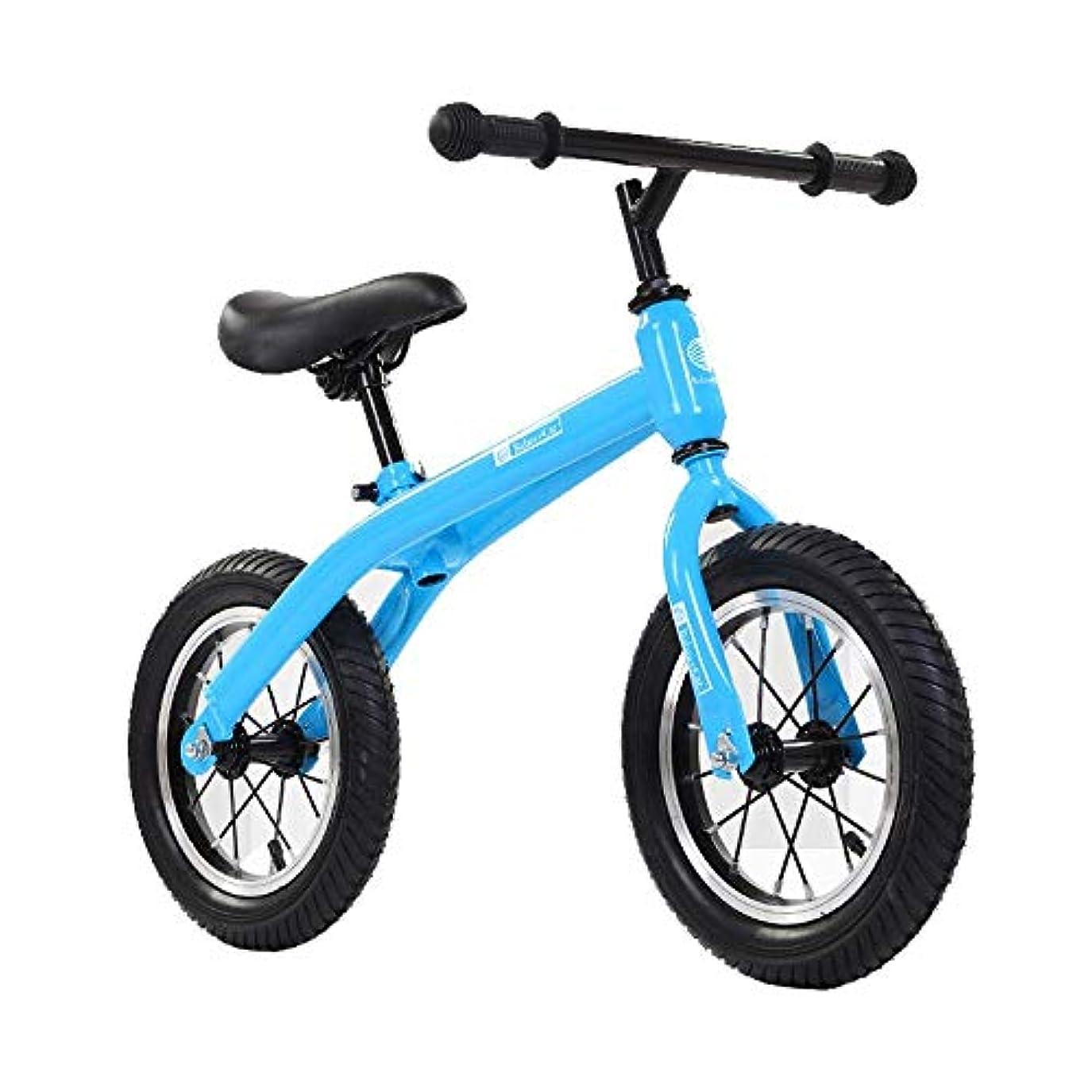 見つけた違反歩行者子ども用自転車自転車 折りたたみ自転車 2,3,4,5,6歳のバランスバイクトレーニング、子供用幼児調節可能なペダルなし歩行練習カーボンスチールブルー ライト 自転車