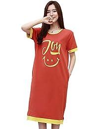 65f0094f499b0 SETSU パジャマ ワンピース レディース 夏 半袖 かわいい ルームワンピース ネグリジェ 綿100% 部屋