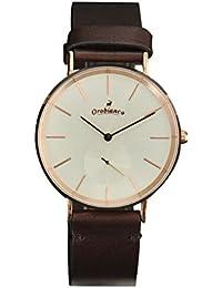 (オロビアンコ) Orobianco SEMPLICITUS センプリチタス ユニセックス メンズ ラウンド型フレーム&ダイヤル腕時計 ピンクシャンパン&ブラウン 正規取扱店