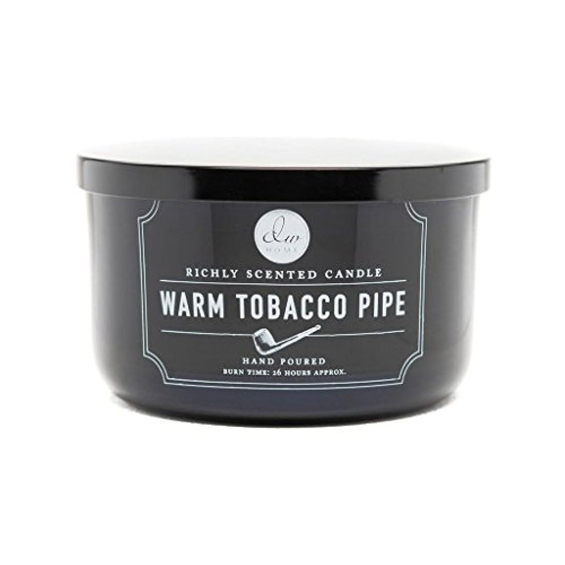 レイア爵リッチDecoware Richly Scented Warm Tobacco Pipe 3-Wick Candle 13.8 Oz. In Glass by Decoware