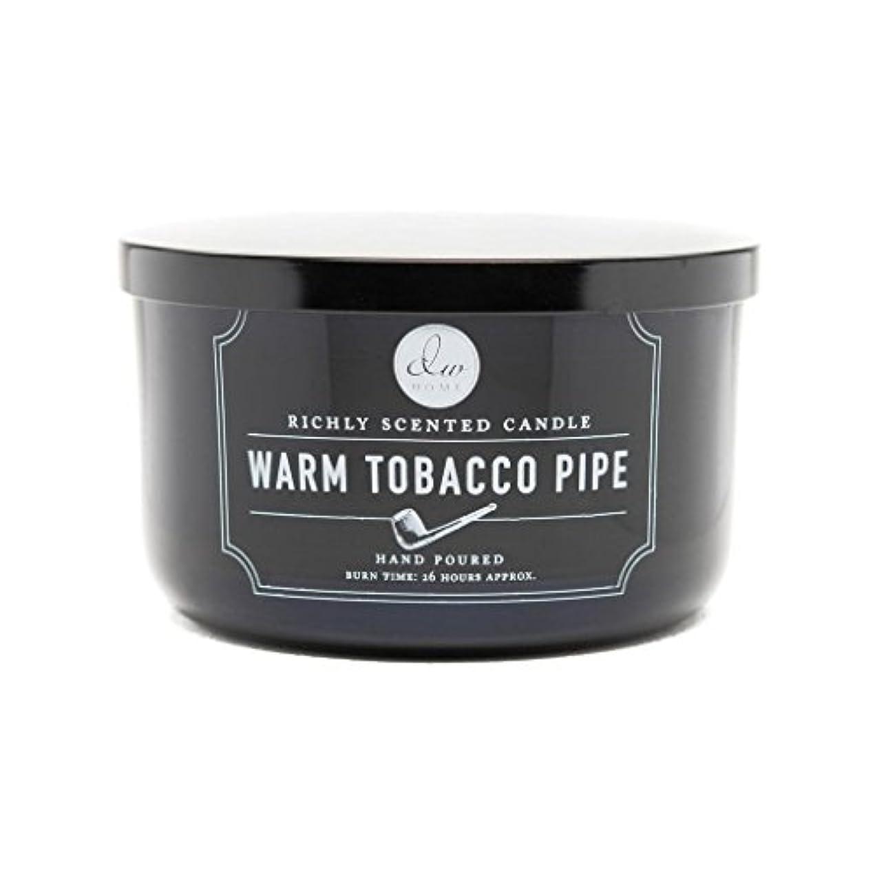中級フルーティー農村Decoware Richly Scented Warm Tobacco Pipe 3-Wick Candle 13.8 Oz. In Glass by Decoware