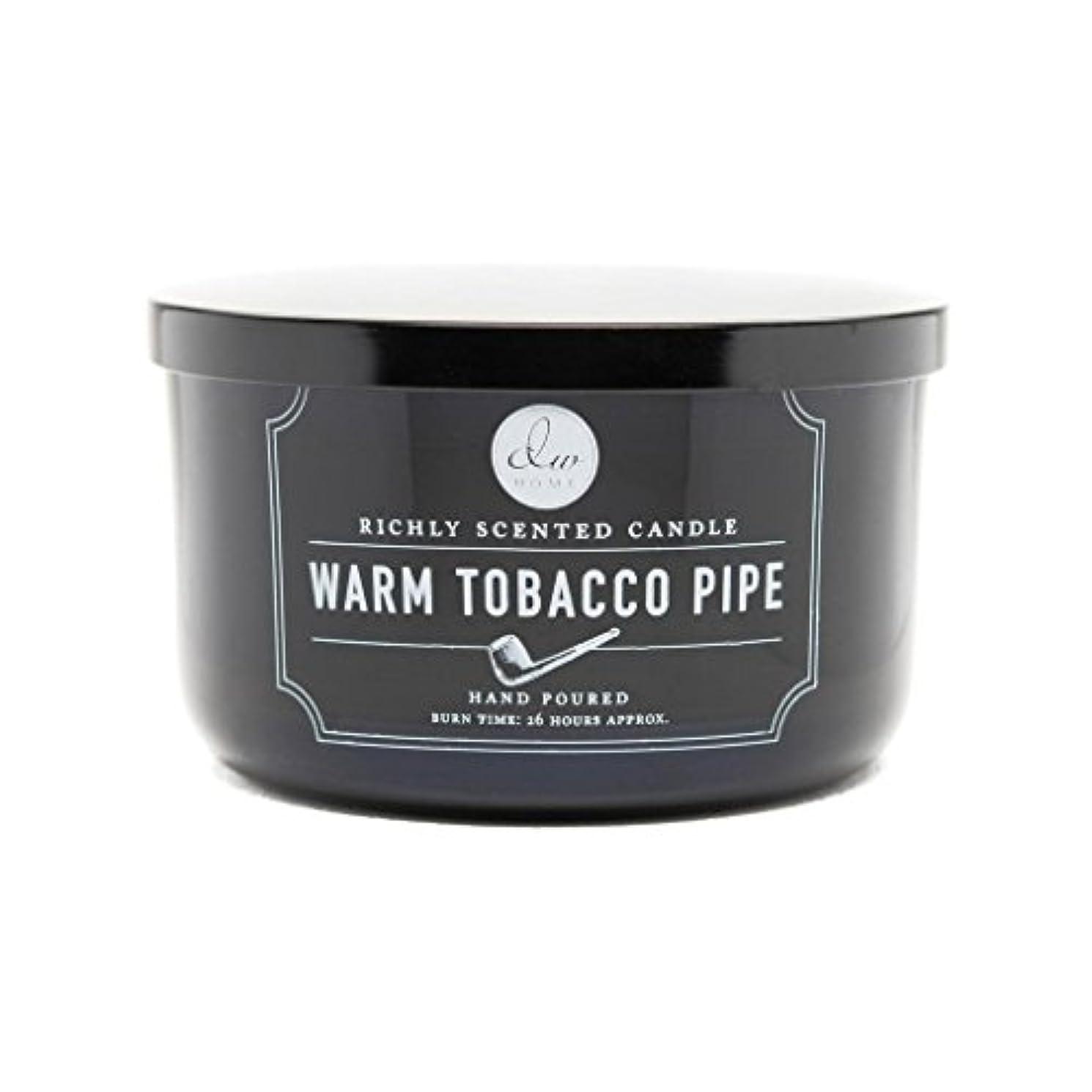 排気不当遠近法Decoware Richly Scented Warm Tobacco Pipe 3-Wick Candle 13.8 Oz. In Glass by Decoware
