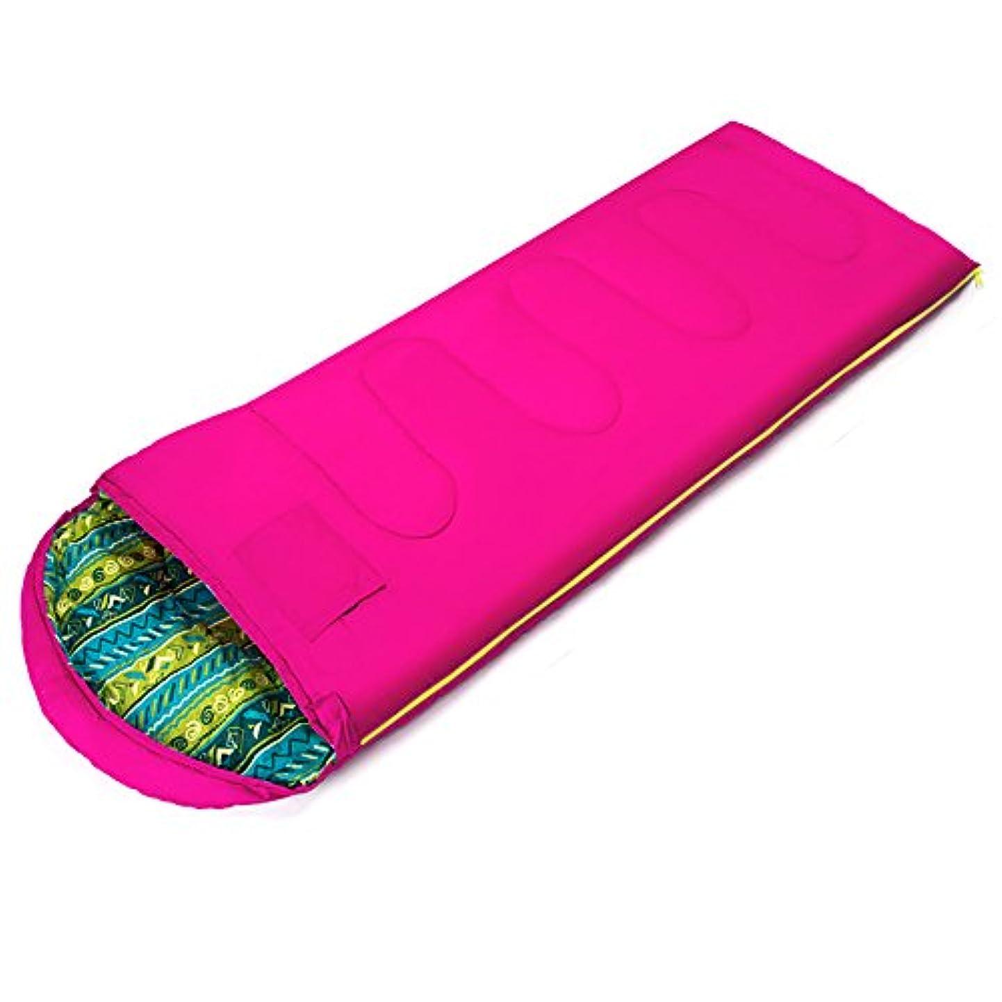 バラ色スケルトンコンクリートLjha shuidai封筒Sleepingバッグ/大人/アウトドアキャンプハイキング/コットン長方形Sleeping Bag with圧縮袋(180 + 30 ) 75 cm