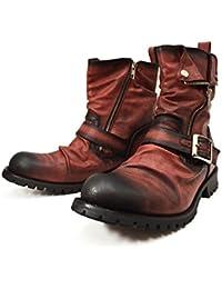 (ジーノ) ZEENO エンジニアブーツ ショートブーツ ドレープ ブーツ ショートブーツ メンズ