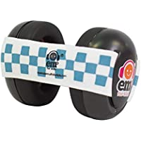 Ems for Kids Hearing Protection Baby Earmuffs - Black with Blue/White. The Original Baby Earmuffs, Now Made in The USA!. Great for Concerts, Music Festivals, Planes, NASCAR, Motor Racing, Power Tools and More!