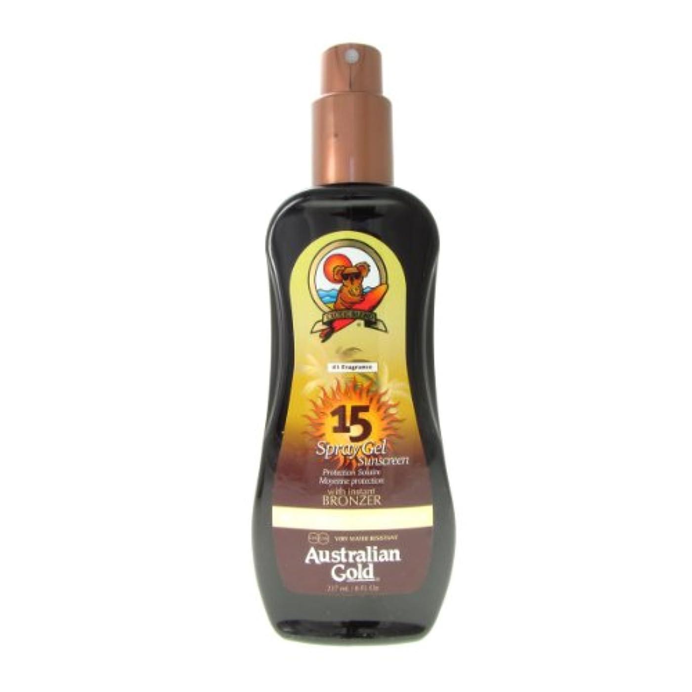 鈍い差別石鹸Australian Gold Spray Gel Spf15 Instant Bronzer 237ml [並行輸入品]
