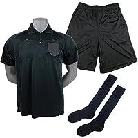 フタバオリジナル レフリーウェア3点セット TF013-BLK (半袖シャツ+パンツ+ソックス) 審判用品 レフェリー