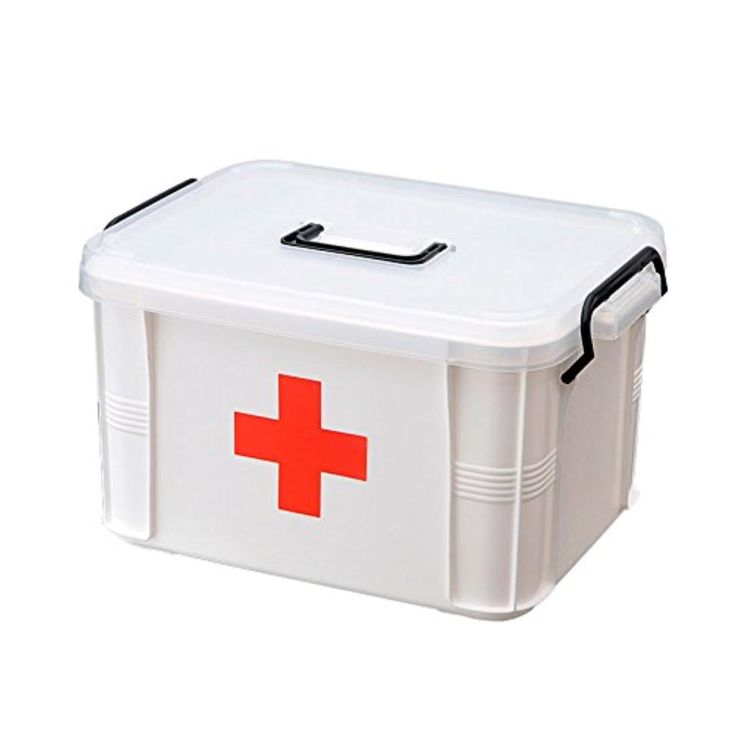 口述するネックレット北方GLJJQMY 家庭用小型薬箱多層医療プラスチックファミリー医療箱薬収納ボックス 薬収納ボックス (Color : S)