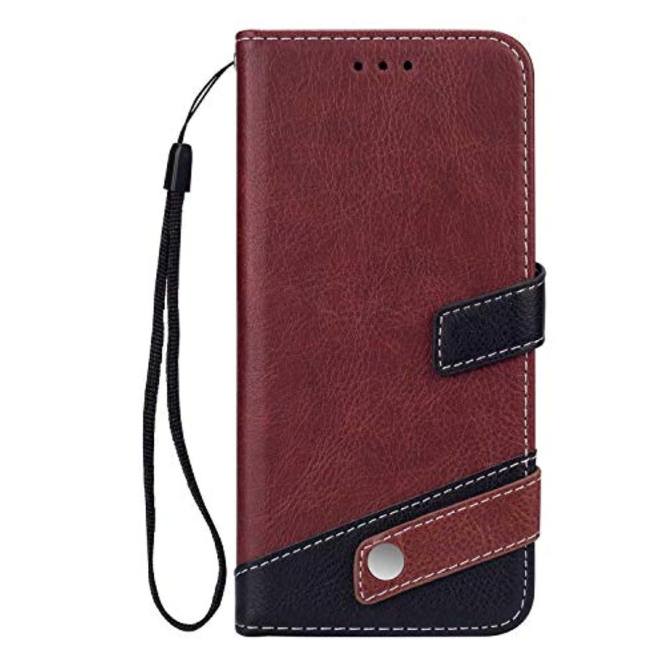 生き物どこか包括的Galaxy S10 ケース OMATENTI 手帳型ケース PUレザー 磁石タイプ ストラップホール付き 全面保護 液晶保護 耐衝撃 財布型 耐久性 薄型 スマホケース, 褐色