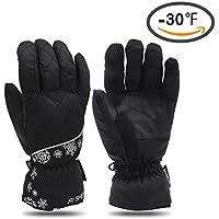 Sharbay防水防風冬熱暖かい手袋寒い天気雪スキースノーボードスノーモービルスキー手袋メンズレディース