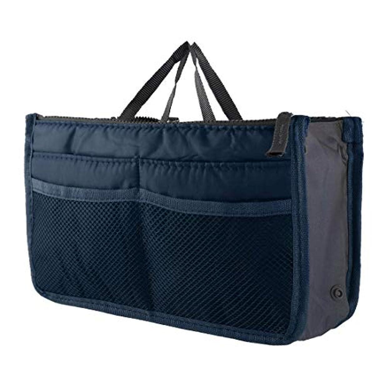 調停するビヨン登るFidgetGear Large Womens Wash Bag Toiletry Cosmetic Travel Make Up Handle Folding Organizer Navy Blue