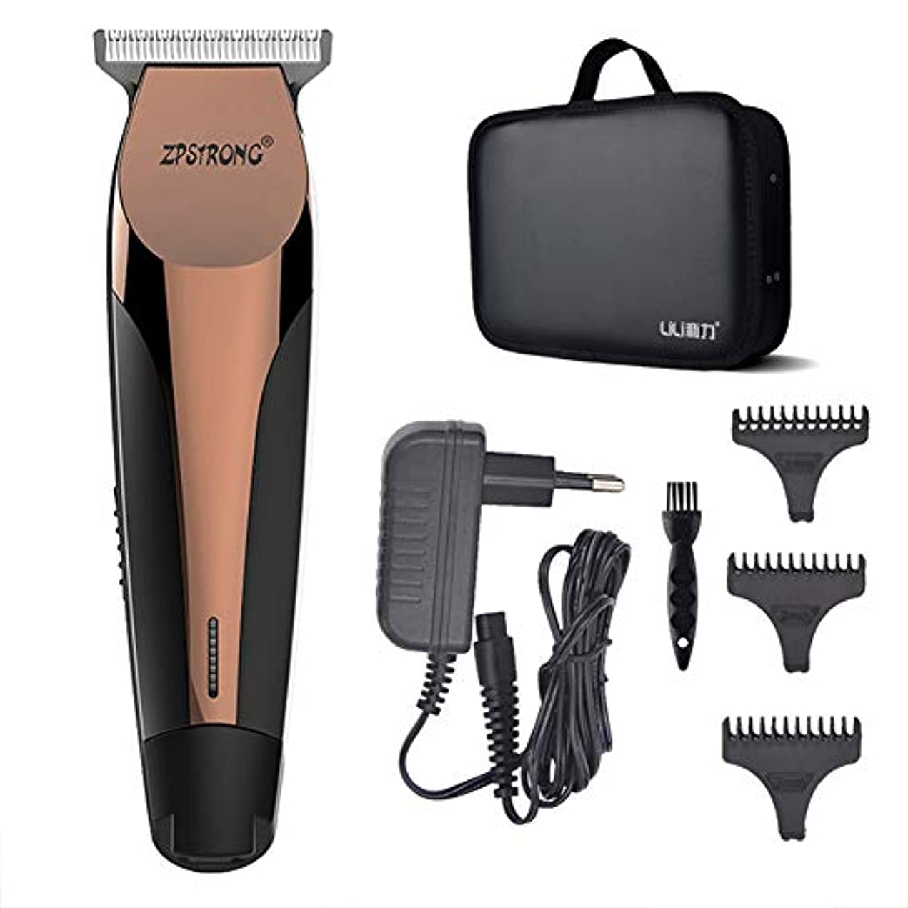 願う冒険者びんバリカン収納ケース付きキャリングケースバッグキット男性のための電気ヘアトリマー髭剃り機0.1ミリメートルカッター理髪散髪ツール100-240ボルト