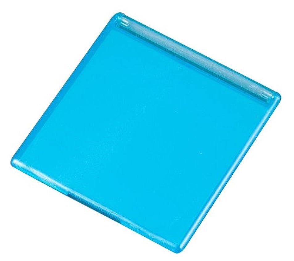 エッセイ成人期テーマ角型コンパクトミラー M ブルー YLA-501