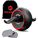 Ab Roller with Non Slip Ergonomic Design Hand Grip and Carry Pouch by MAGNAR