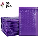 Fu Global Poly Bubble Mailers 4x8 Inch #000 Padded Envelopes Purple Pack of 50