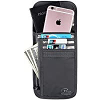 Passport Wallet, Travel Neck Pouch with RFID Blocking, Security Travel Wallet, Travel Neck Wallet & Passport Holder, Durable & Water Resistant for Money & Credit Cards by VanFn P.Travel Series