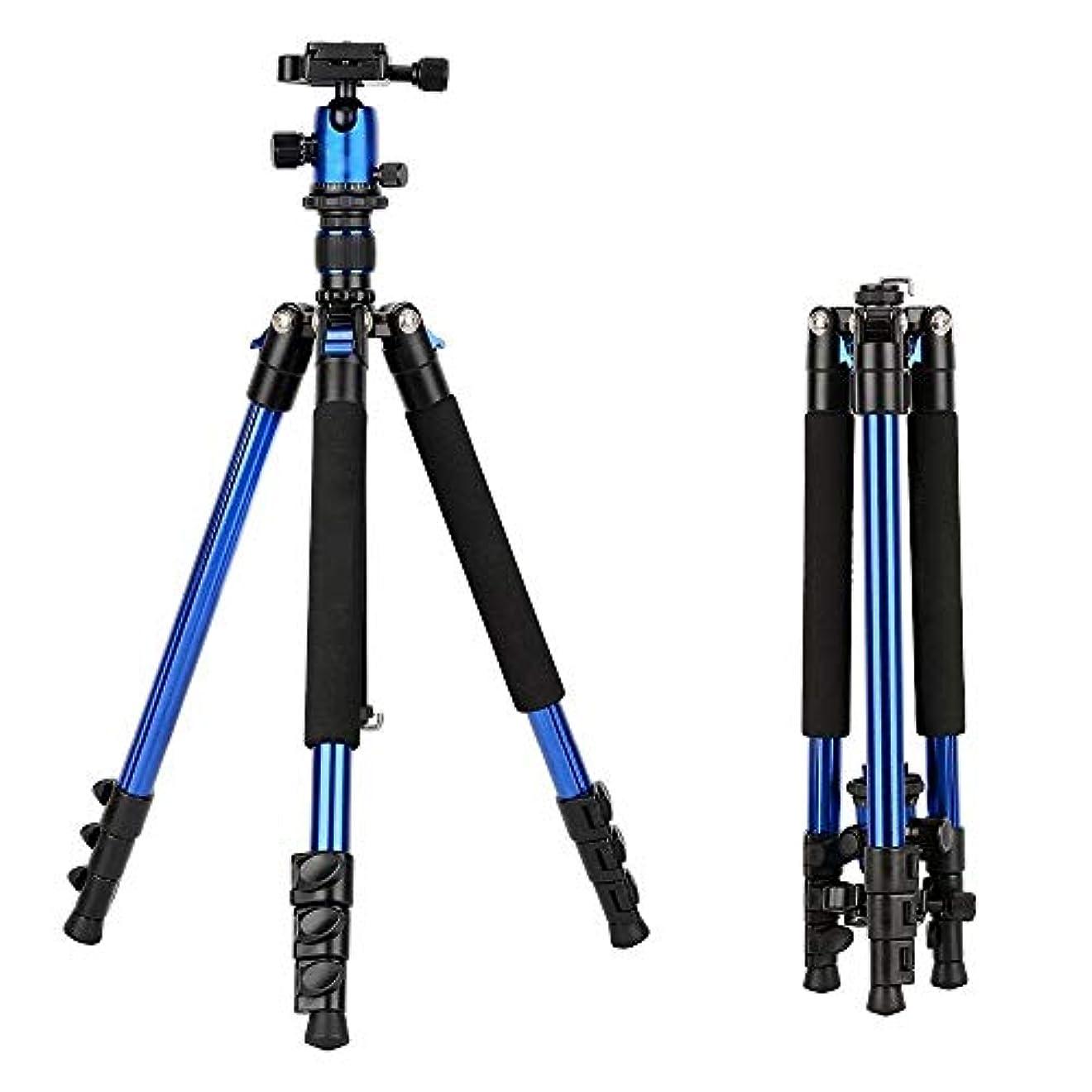 スキャンダルほぼ流行している三脚 アルミ三脚柔軟なポータブルカメラの三脚は、デジタル一眼レフカメラ用ボールヘッドとトライプスタンド スマートフォン三脚 (色 : Orange, Size : One size)