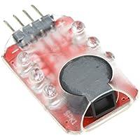 GoolRC Loudhailerリポバッテリー電圧 アラーム インジケータ チェッカー 2-4S LED ディスプレイfor RC ヘリコプター ドローンマルチコプター 車載バッテリー 用