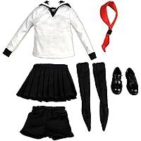 Lovoski  おもちゃ 1/6スケール きせかえ人形用 女子高生 制服 セーラー服 12 インチフィギュアモデルに適用