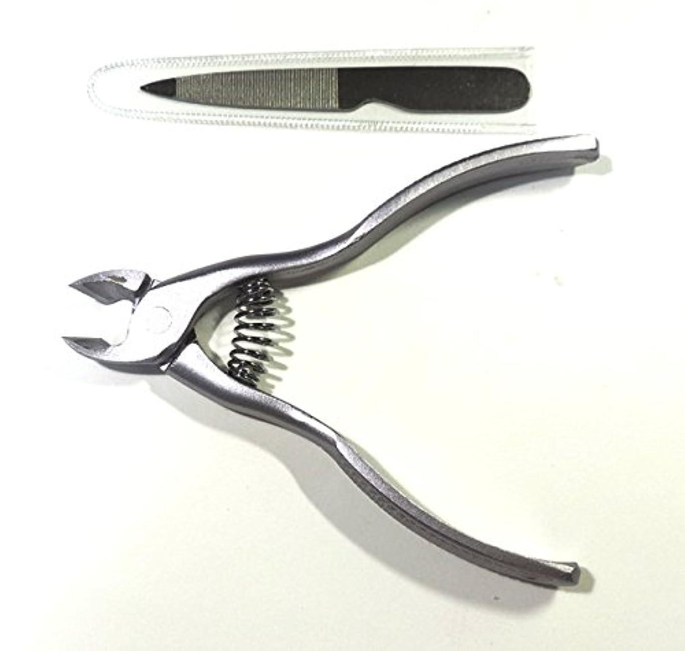 日本製 ネイルカッター爪美人 可憐 シルバー色 足手すべて用