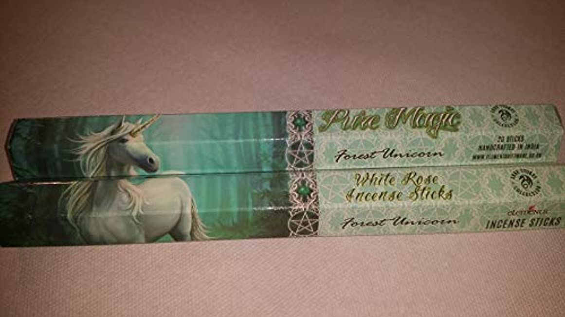 記念品正しくジェスチャーPack Of 6 Forest Unicorn Incense Sticks By Anne Stokes