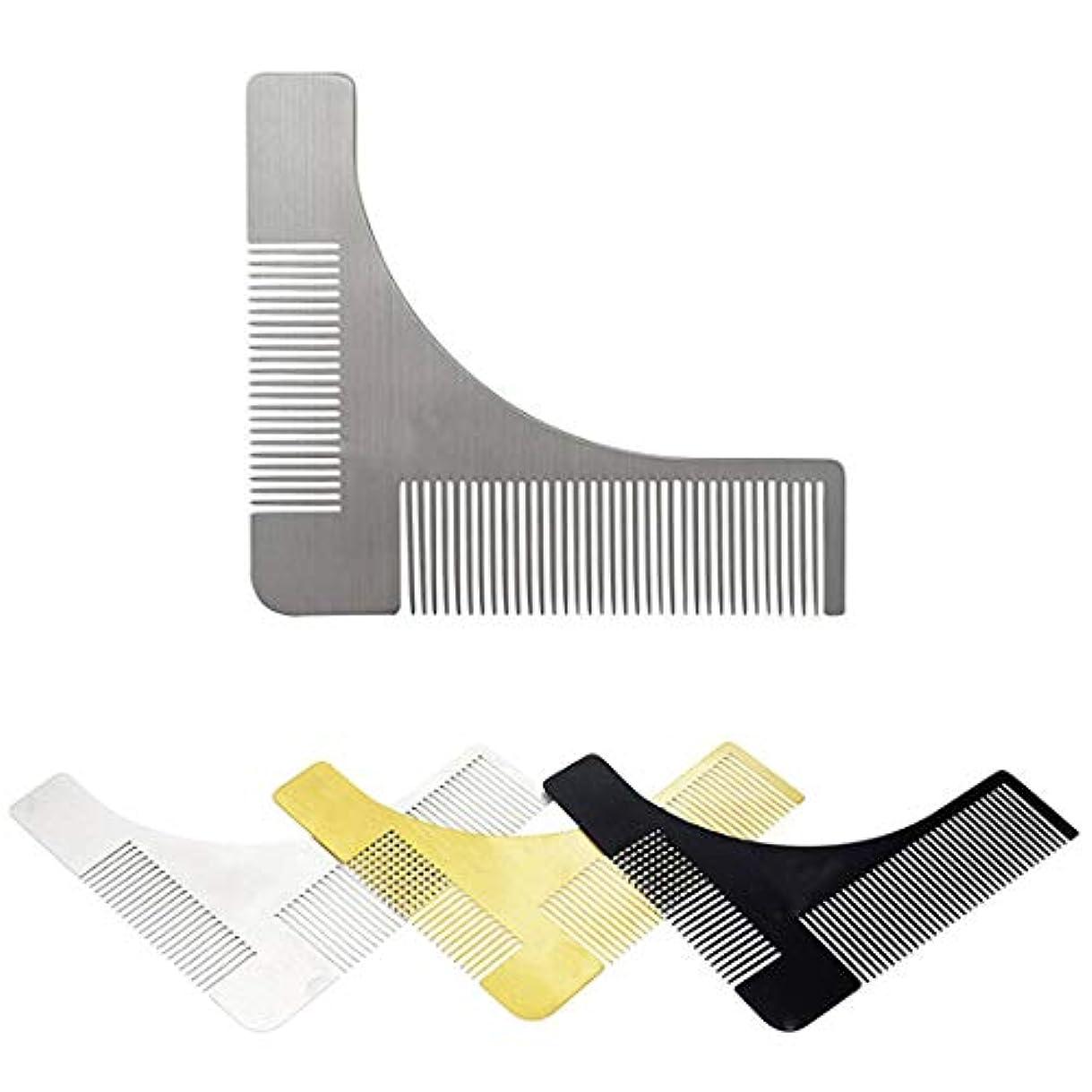 騒タヒチ不名誉なステンレス鋼のひげのスタイリングおよび形成のための型板の櫛用具 モデリングツール (色 : 304 material)