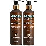 ARGAN MAGIC Defining Curl Cream - Enhances Waves & Curls While Adding Definition | Conditions, Detangles, Reduces Frizz | Enr