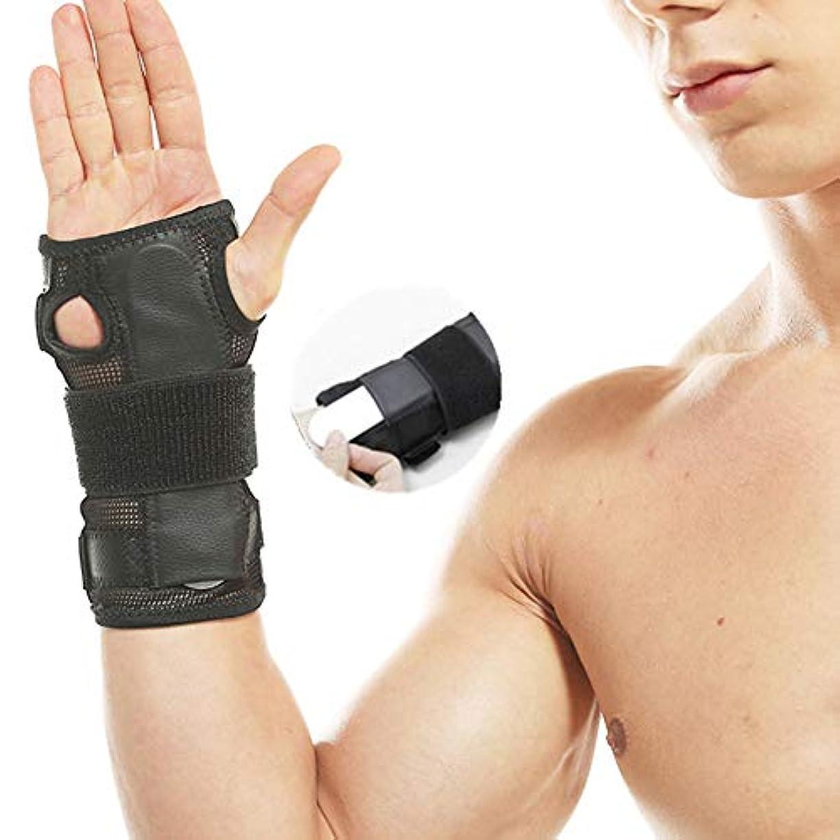ヘビわかりやすい二週間ハンドリストバンドリストバンド鉄骨ブレース手首手首サポートスプリント骨折手根管スポーツ捻挫を調整します