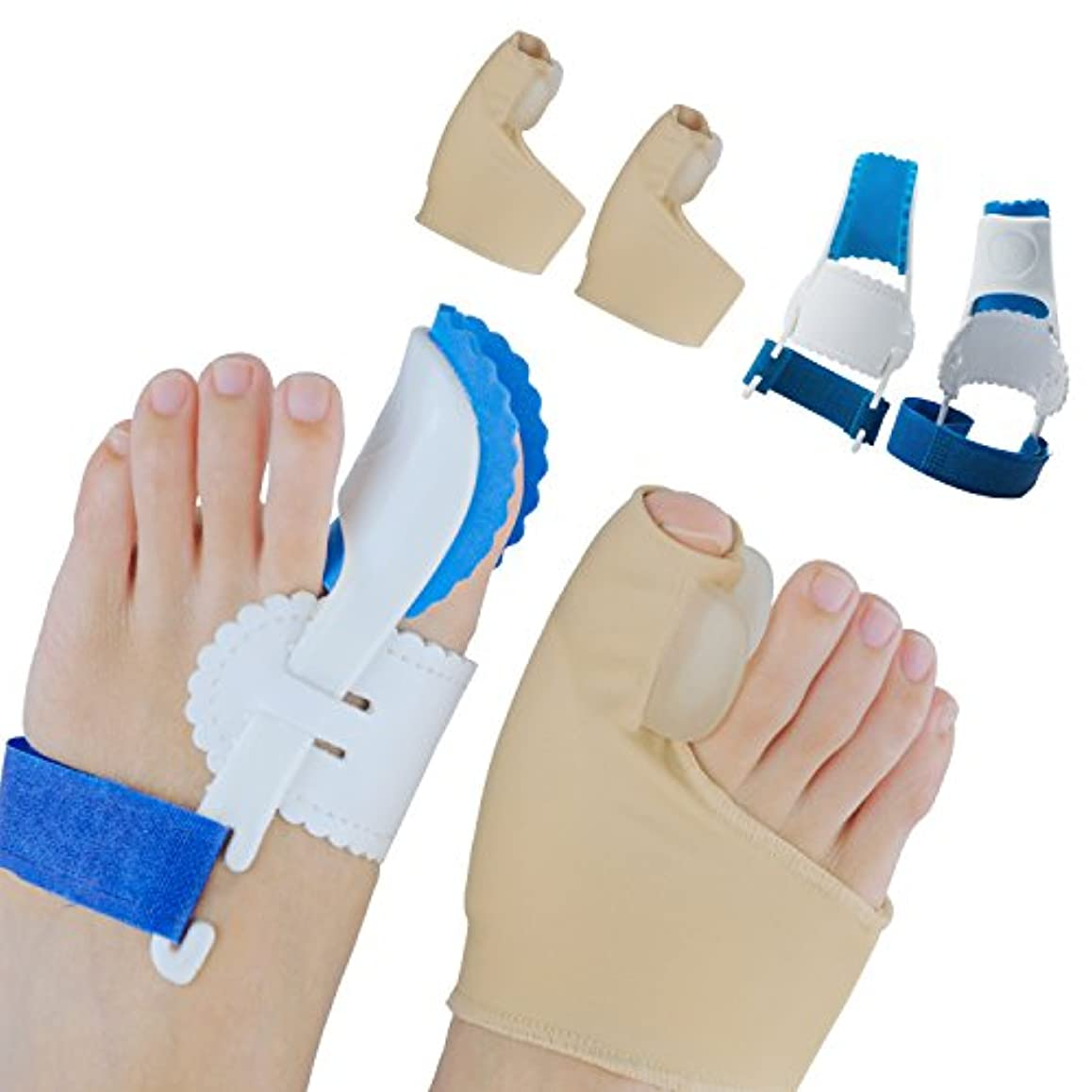 農学残高粒子Sumifun外反母趾 専用 つま先セパレーター 矯正 ケア ベルト 寝ている間に親指矯正