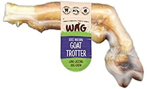Goat Trotter 10 Pack, Grain Free Hypoallergenic Natural Australian Made Dog Treat Chew, Unique Tasty Chew