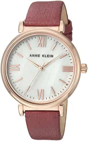 1cd6cee005ad Anne Klein Women  s AK 2962rgmvスワロフスキーCrystal Accentedローズゴールド調と藤
