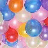 素敵に演出! 光沢 パール バルーン 約20㎝ 10色アソート 100個 セット 風船 誕生日 飾り付け バルーン パーティー バースデー グッズ 飾り (m)