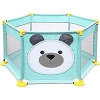 ベビーサークル, ポータブルプラスチック製ベビープレイペン、幼児のための6パネル安全プレイヤード、アンチロールオーバーキッズのゲームのフェンス - 65センチメートルの高さ