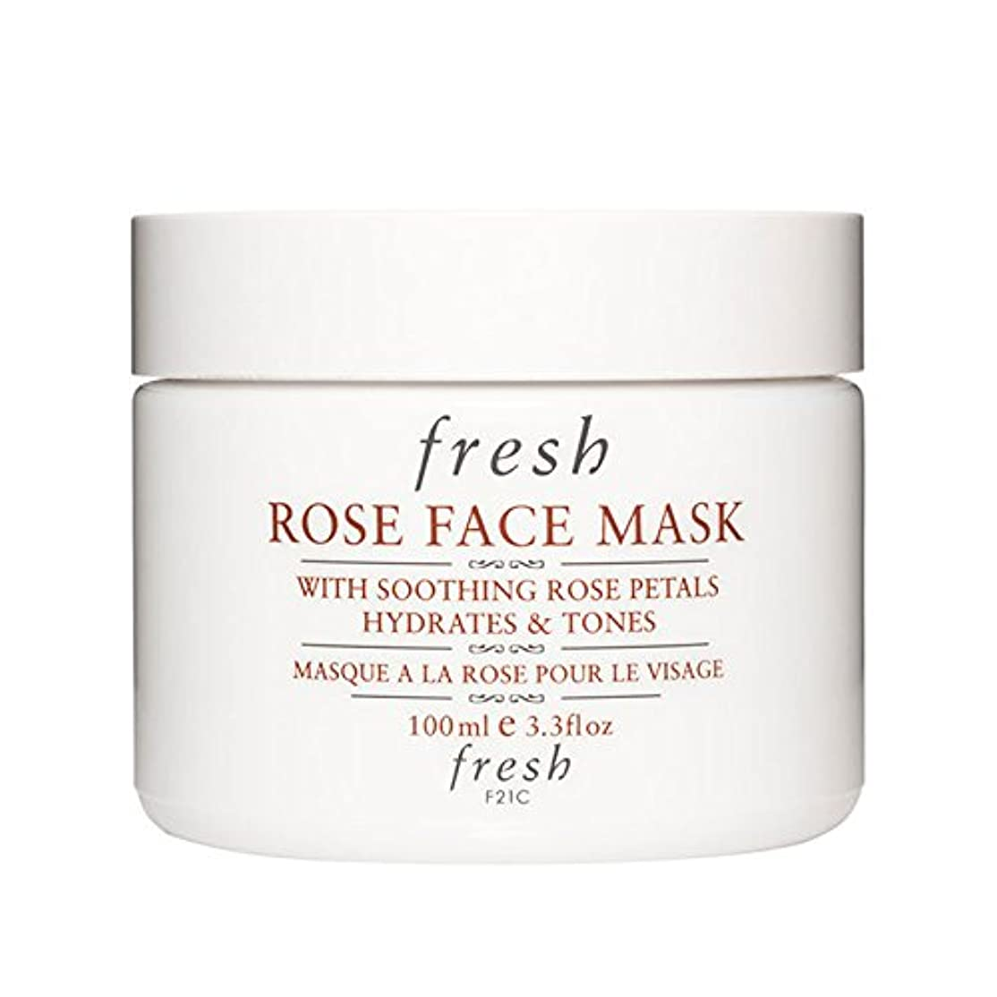 征服者入札州【並行輸入品】Fresh ROSE FACE MASK (フレッシュ ローズフェイスマスク) 3.4 oz (100g) by Fresh for Women